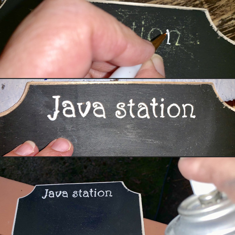 Winter Beverage Station Sign - This is a simple DIY project that adds some pizazz to any beverage station.
