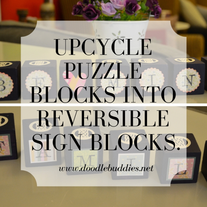 A simple and clever way to upcycle children's wooden building blocks. A little paint, a simple tutorial and a few embellishments is all you need for this fun diy project.