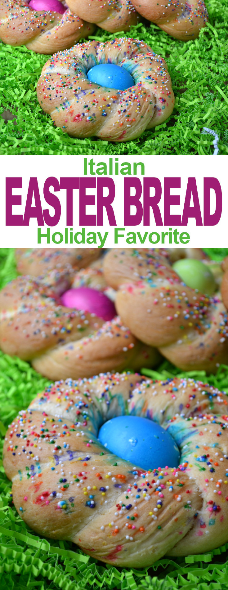 A slightly sweet, lemony holiday bread that's light and fluffy and baked around a brightly colored Easter egg