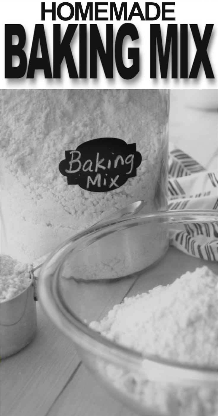 A mixture of ingredients used for making biscuits, cobbler and many other baked goods. It's quick, tasty and a lot cheaper than the name brand baking mixes.